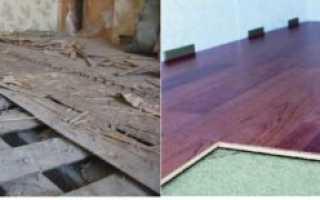 Подготовка бетонного и деревянного пола под ламинат – инструкция + Видео