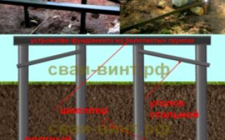 Свайно-винтовой фундамент на болотистом грунте