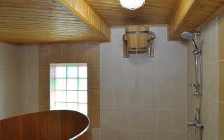 Обустройство моечной в бане своими руками