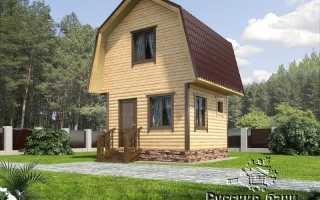 Проект бани 4х4 с мансардой, баня 4х4 двухэтажная