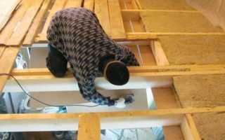 Правильное утепление потолка в доме с холодной крышей своими руками