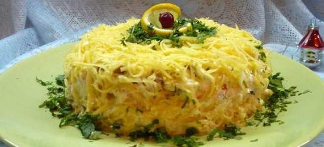 Салат с грибами и сыром – оригинальные пошаговые рецепты с фото