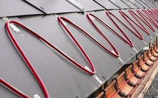 Обогрев кровли и водостоков, система обогрева крыши, кабельный обогрев