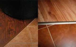 Стык плитки и ламината — методы соединения с порожком и без