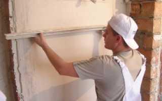 Оштукатуривание стен при помощи маяков: пошаговая инструкция