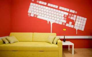 Рисунки на стенах своими руками- идеи дизайна пошагово