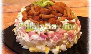 Салат с маринованными опятами – 8 рецептов приготовления