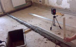 Как выравнивать бетонные полы – под линолеум, без стяжки и под ламинат