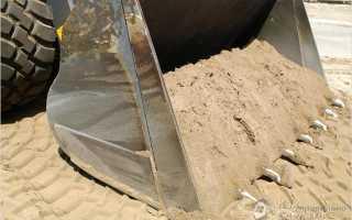 какой песок нужен для фундамента