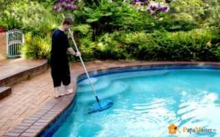 Как очистить воду в бассейне на даче, убрать зелень перекисью водорода
