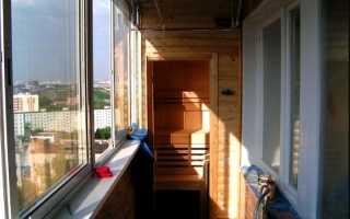 Сауна на балконе своими руками: плюсы и минусы, правила создания