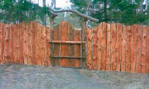 Забор из горбыля – плюсы и минусы, разновидности, делаем сами