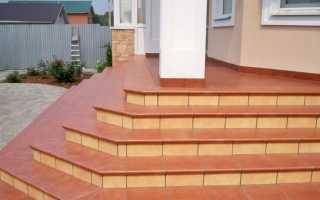 Керамогранит для лестницы на улице и каменного крыльца