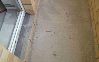 Как залить пол на балконе: стяжка на балконе своими руками