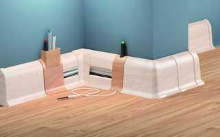 Плинтус с кабель каналом: виды, размеры, установка пластиковых изделий