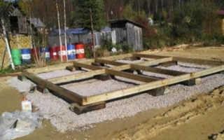 Как сделать фундамент из железобетонных и деревянных шпал своими руками для дома и бани: видео