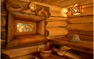 Интерьер бани – пример внутренней отделки в русском стиле