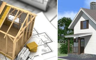 Лучшие проекты каркасных домов бесплатно с чертежами и фото