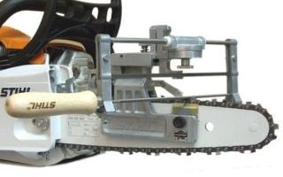 Как заточить цепь бензопилы своими руками используя напильник или станок для заточки
