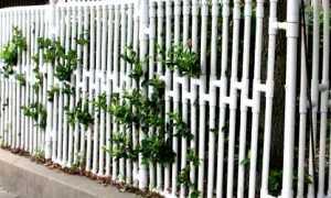 Забор из пластиковых труб своими руками
