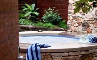 Уличные джакузи: гидромассажные ванны для улицы с подогревом для использования зимой, бассейн своими руками