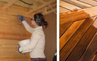 Чем покрыть вагонку внутри дома, чтобы не потемнела древесина