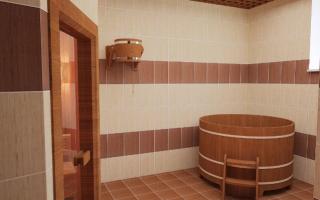 Моечная и помывочная в бане интерьер +75 фото примеров дизайна