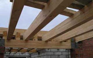 Деревянные балки перекрытия: размеры, расчет (на примере пролета 6 метров)