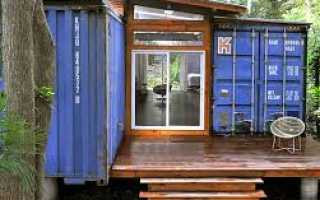 Дачные домики из контейнеров (36 фото) металлических: видео-инструкция по монтажу своими руками, блок для дачи, фото