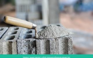 Из чего делают цемент: состав цемента