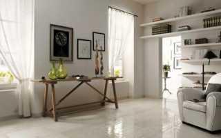 Белая глянцевая плитка на пол: напольные покрытия из больших квадратов, отзывы об использовании
