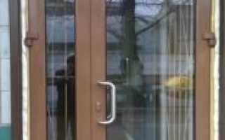 Алюминиевая распашная дверь для коттеджа, заказ входных дверей в Москве