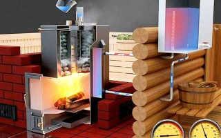 Теплообменник в банную печь для воды: печь для бани для отопления, установка бака для горячей воды, схема подключения печки