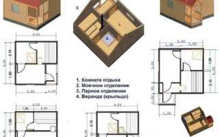 11 рекомендаций по созданию плана бани 4 на 4 + фото