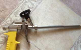 Как почистить пистолет от монтажной пены