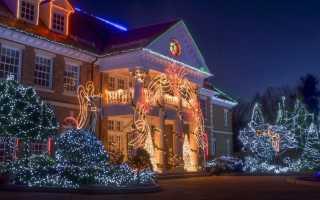 Как украсить фасад частного дома своими руками: Идеи +Фото к Новому году