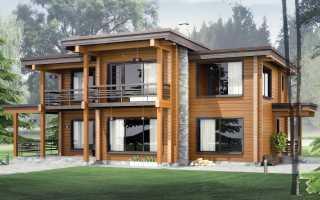 Дом из бруса в стиле Хай-Тек и отделка клеенного бруса
