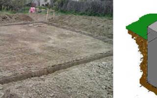 Фундамент щелевой с плитным для дома: устойство