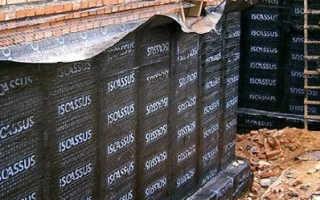 Гидроизоляция стен подвала снаружи от грунтовых вод