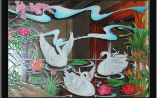 Роспись акриловыми красками по стеклу: мастер-класс для начинающих с фото